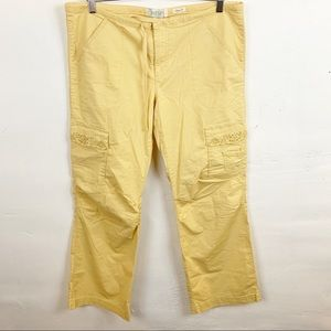 Old Navy l Yellow Stretch Cargo Pants